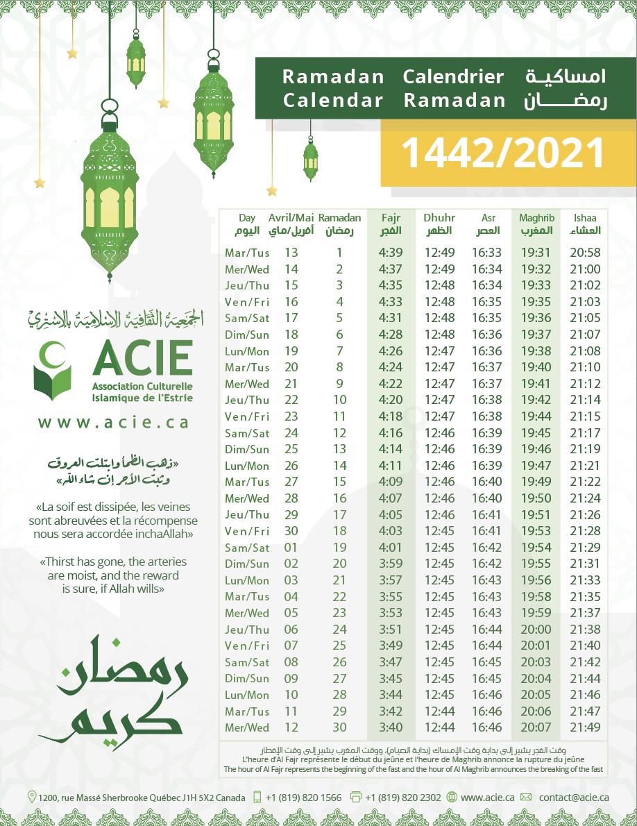 Calendrier Du Ramadan 2022 ACIE   Calendrier Ramadan